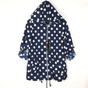 Jason maxwell raincoat novelty polka dot jacket